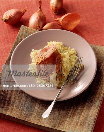 Andouille de Guéméné with mashed potatoes