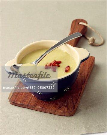 Cream of split pea soup