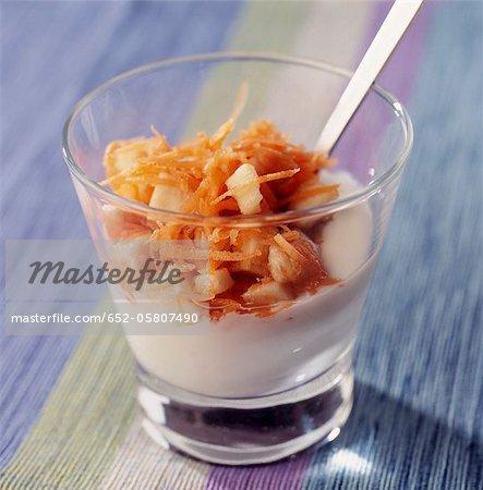 Panais crème aux pommes et carottes râpées