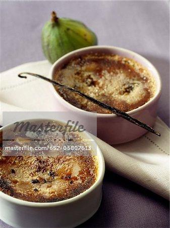 Feigen und Vanille Crème brûlée