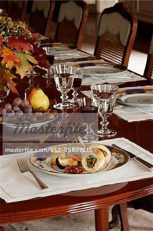 Stuffed rolled turkey in a luxurious decor