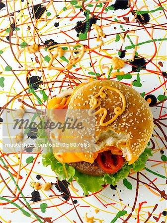 Hamburger de Pollock-style
