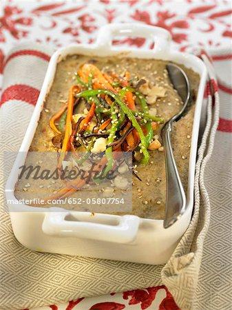 Lentil,sweet potato,carrot and brown rice savoury cake