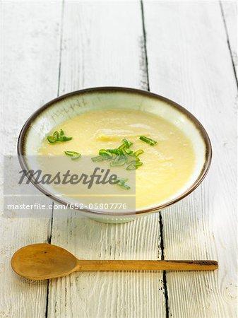 Cream of leek,potato and broccoli soup