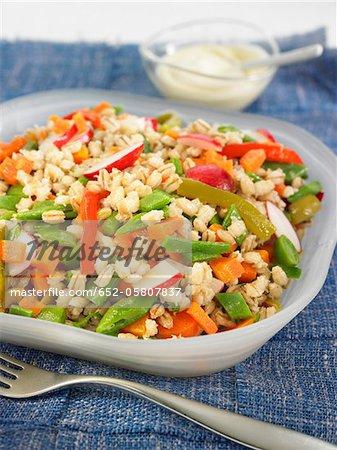 Barley and vegetable salad