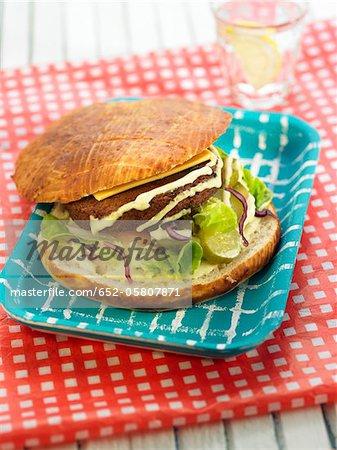 Soya protein burger