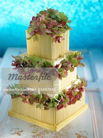 Gâteau de mariage de chocolat blanc