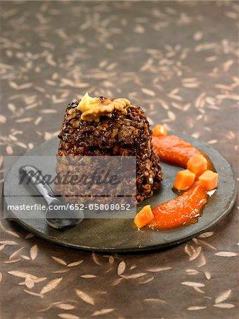 Carouba and rice pudding