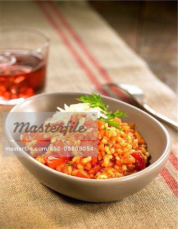 Three variety of tomato risotto