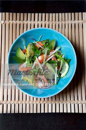 Shrimp and citrus fruit salad