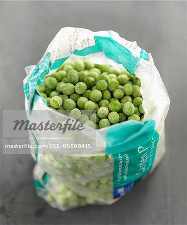 Pack of frozen peas