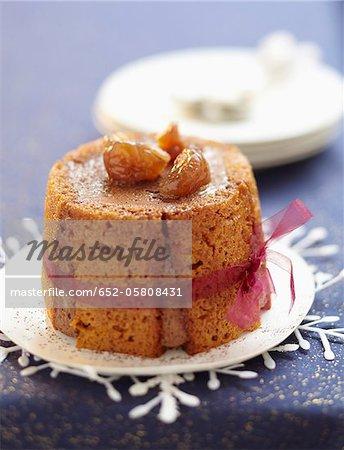 Charlotte de pain d'épices, chocolat et marron