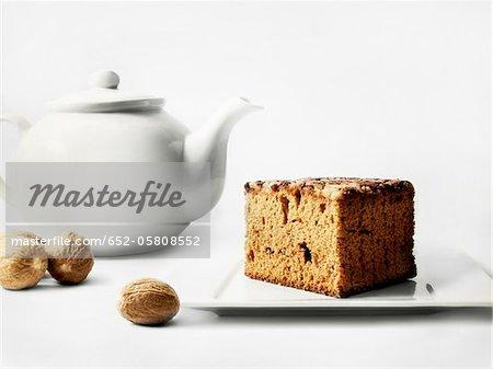 Muskat-Geschmack von Lebkuchen und eine Teekanne