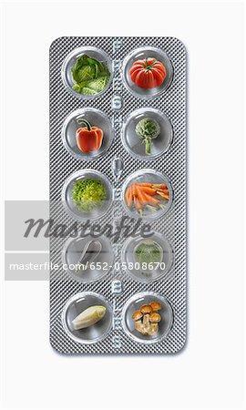 Tablet of fresh fruit