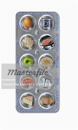 Tablet von Produkten für die Dukan-Diät: Stärkung Phase