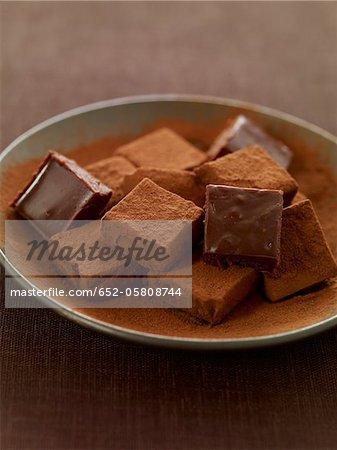 Quadratischen Schokoladentrüffel