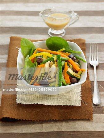 Gemüse mit Miso-dressing
