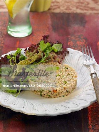 Sarrasin avec carottes et champignons de Paris
