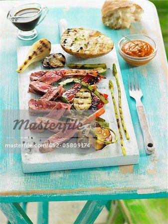 Veal fillet with grilled vegetables