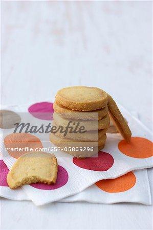Semolina and melon shortbread biscuits
