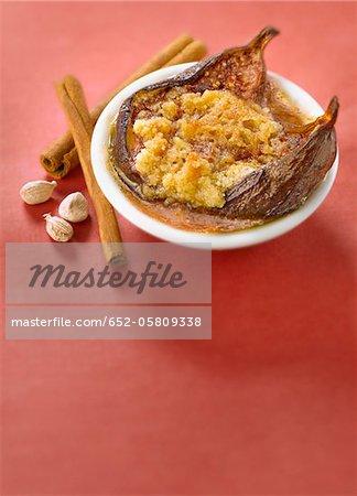 Cuire au four de crumble-style épicée fig