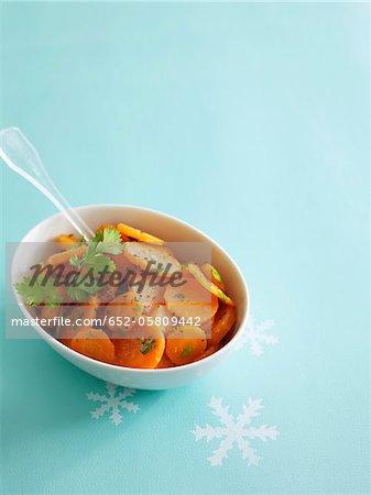 Carrot salad with fresh coriander