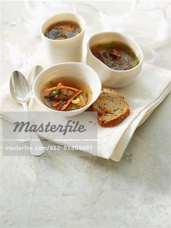 Foie gras in broth