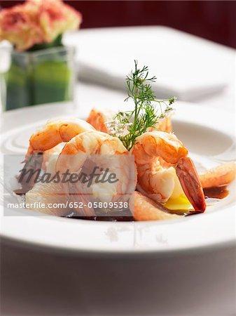 Shrimps with tamarind juice