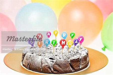 Geburtstag-Schokoladenkuchen