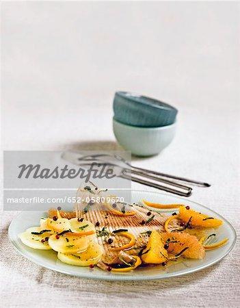 Patiner au poivre rose et orange