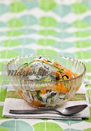 Vegetable tagliatelle salad