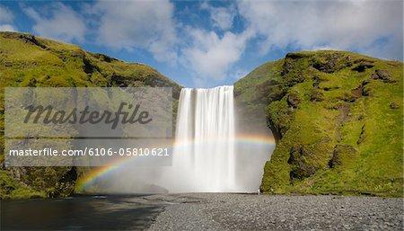 Skogafoss waterfall, South Iceland,