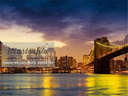 New York City Skyline de nuit