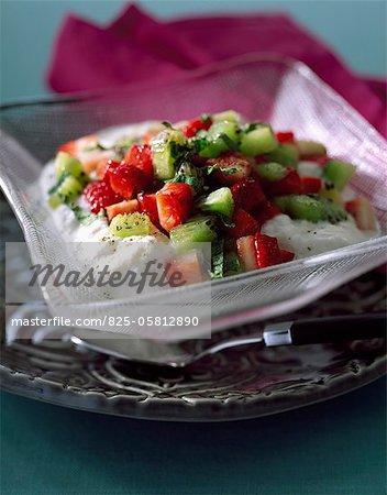 Strawberry and kiwi tartare