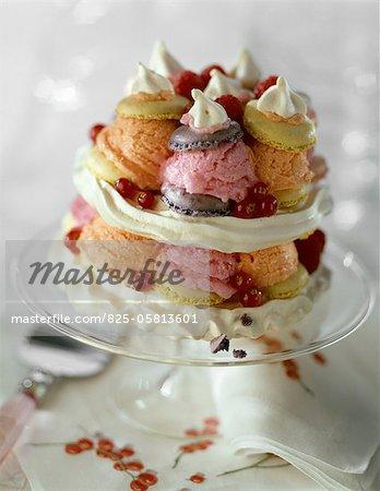 Ice cream macaroon wedding cake