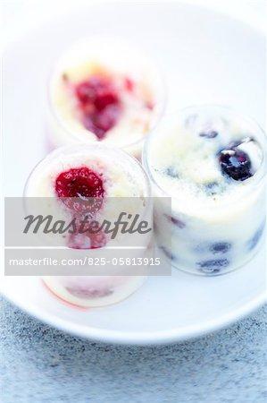 Summer fruit and almond cream dessert