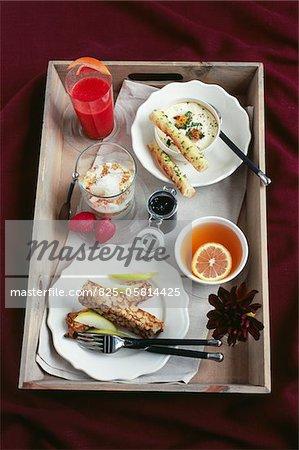 Land Frühstück Tablett