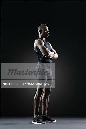 Athlète masculin, portrait