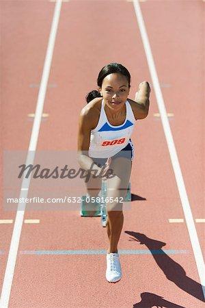 Läufer an der Startlinie