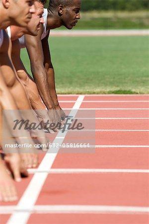 Athletes at starting line