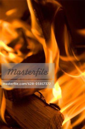 Detail of open fire