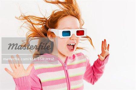 Mädchen mit 3D Brille