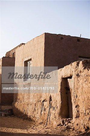 Al Qasr, Oasis de Dakhla, désert de Libye, Égypte