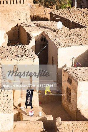 Clotheslines, Al Qasr, Dakhla Oasis, Libyan Desert, Egypt