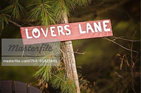 Signe de Lovers Lane