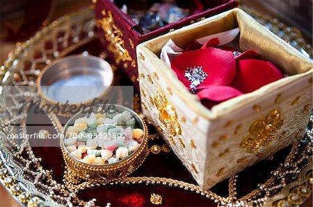 Éléments à la cérémonie de mariage hindou