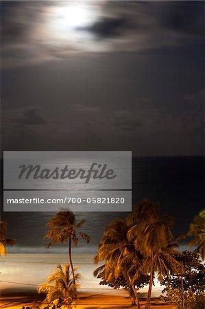 Beach at Night Joao Pessoa, Paraiba, Brazil