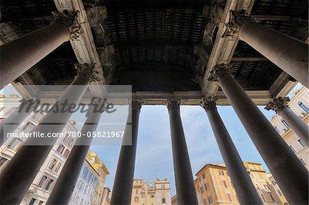 Detail des Pantheon, Rom, Latium, Italien