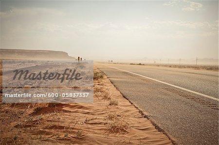 Route 160 près de Mexican Water, Arizona, USA