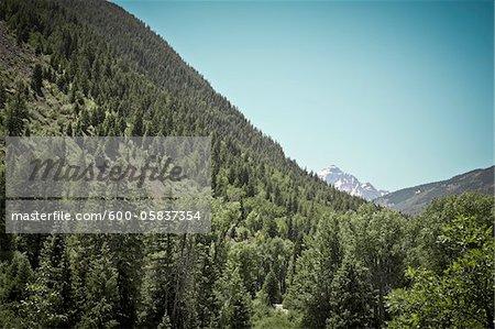 Malerischer Blick auf Berge, Aspen, Colorado, USA
